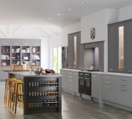 English Revival Kitchens Fitted Kitchens From Luxury For Living - Grey fitted kitchens